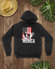 Merica racer flag Hooded Sweatshirt lifestyle-unisex-hoodie-front-7