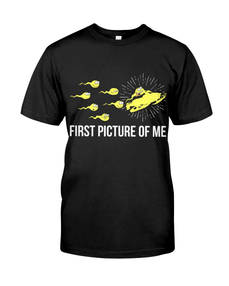 Funny Snowmobile Shirts First Picture Of Me Classic T-Shirt