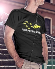 Funny Snowmobile Shirts First Picture Of Me Classic T-Shirt lifestyle-mens-crewneck-front-5