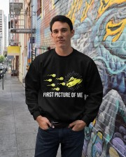 Funny Snowmobile Shirts First Picture Of Me Crewneck Sweatshirt lifestyle-unisex-sweatshirt-front-2