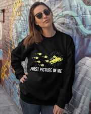 Funny Snowmobile Shirts First Picture Of Me Crewneck Sweatshirt lifestyle-unisex-sweatshirt-front-3