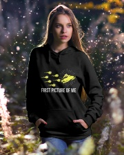 Funny Snowmobile Shirts First Picture Of Me Hooded Sweatshirt lifestyle-holiday-hoodie-front-5