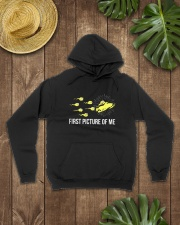 Funny Snowmobile Shirts First Picture Of Me Hooded Sweatshirt lifestyle-unisex-hoodie-front-7