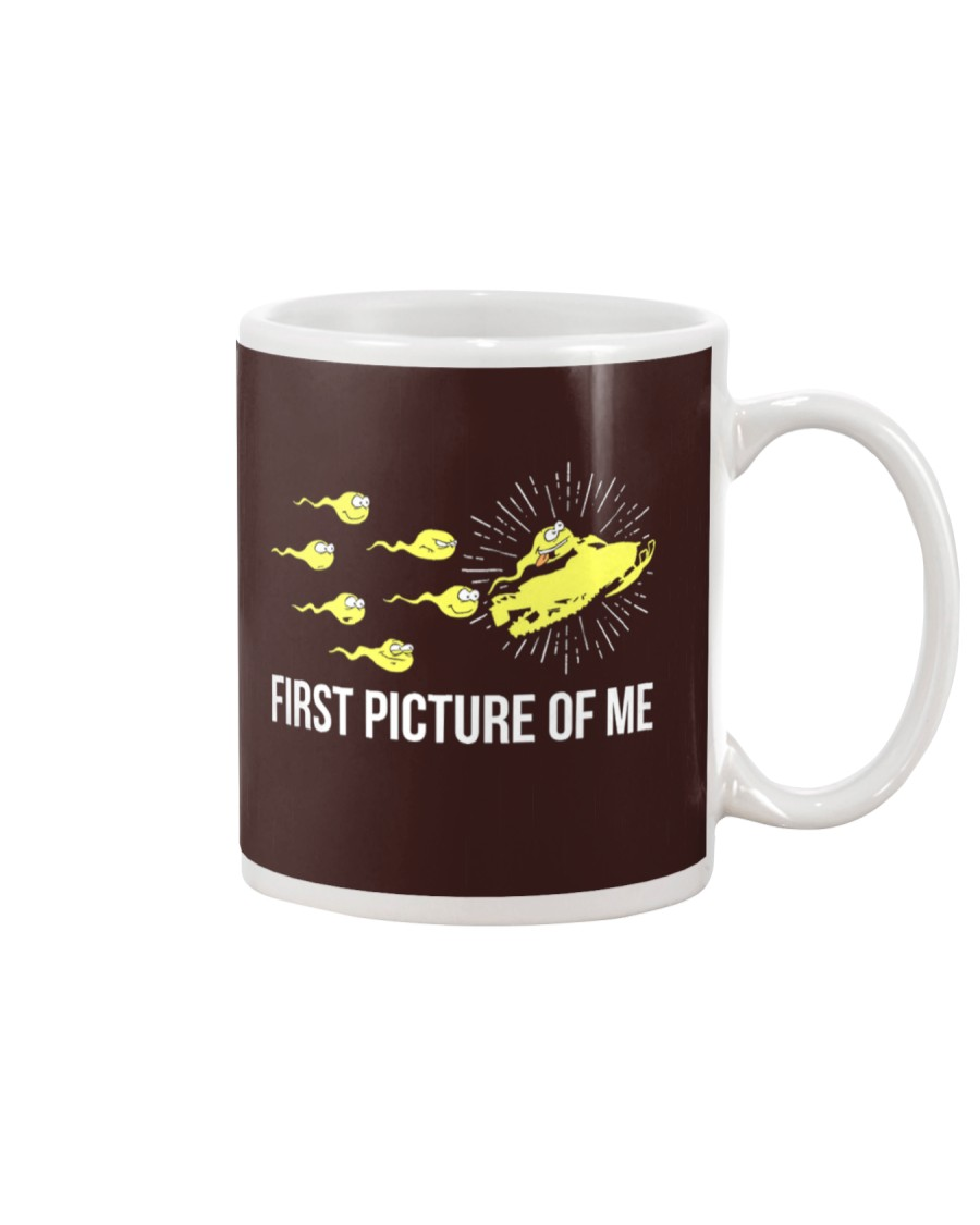 Funny Snowmobile Shirts First Picture Of Me Mug