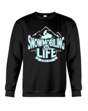 Snowmobiling Is Life Crewneck Sweatshirt thumbnail