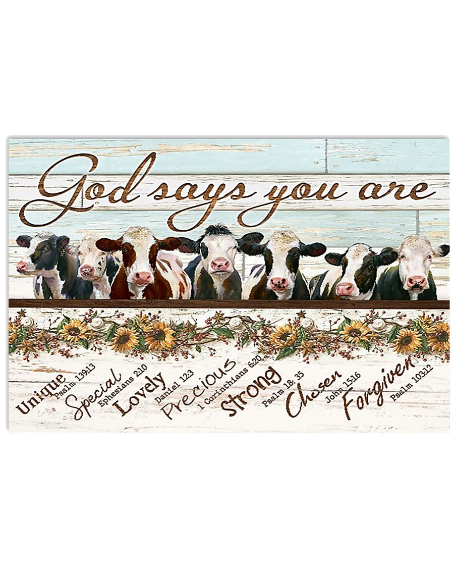 Cow Poster MCL162007J11VT 17x11 Poster