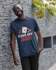 kiss my ace funny poker apparel Classic T-Shirt apparel-classic-tshirt-lifestyle-front-33
