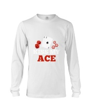 kiss my ace funny poker apparel Long Sleeve Tee thumbnail