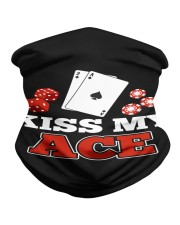 kiss my ace funny poker apparel Neck Gaiter thumbnail