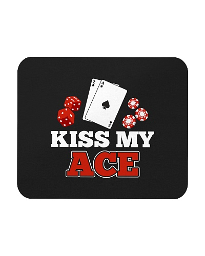 kiss my ace funny poker apparel