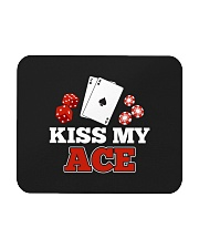 kiss my ace funny poker apparel Mousepad thumbnail