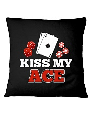 kiss my ace funny poker apparel Square Pillowcase thumbnail