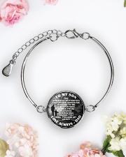 To My Son Metallic Circle Bracelet aos-bracelet-metal-front-lifestyle-6