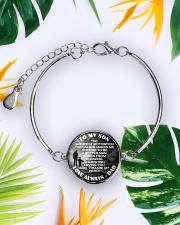 To My Son Metallic Circle Bracelet aos-bracelet-metal-front-lifestyle-7