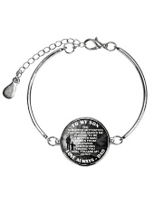 To My Son Metallic Circle Bracelet front