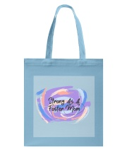 Strong As A Foster Mom Face Mask Tote Bag thumbnail