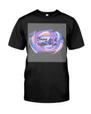Strong As A Foster Mom Face Mask Classic T-Shirt thumbnail
