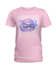 Strong As A Foster Mom Face Mask Ladies T-Shirt thumbnail