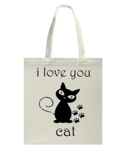 I LOVE YOU CAT Tote Bag thumbnail