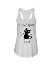 I LOVE YOU CAT Ladies Flowy Tank front