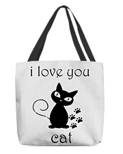 I LOVE YOU CAT All-over Tote thumbnail