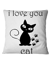 I LOVE YOU CAT Square Pillowcase thumbnail