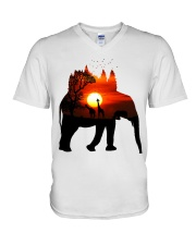 ElephantForest-Africa V-Neck T-Shirt tile