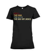 UNCLE THE MAN THE MYTH Premium Fit Ladies Tee thumbnail