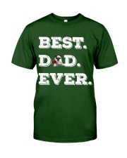 Best Dad Ever bulldo funny gift father day Classic T-Shirt front