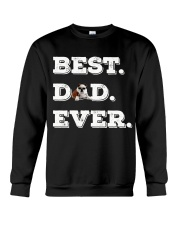 Best Dad Ever bulldo funny gift father day Crewneck Sweatshirt thumbnail