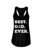 Best Dad Ever bulldo funny gift father day Ladies Flowy Tank thumbnail