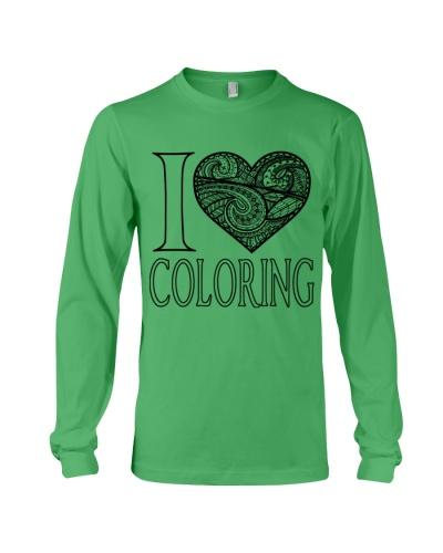 I  Love Coloring T Shirt