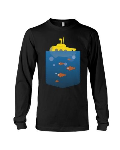 Cool yellow pocket submarine T Shirt