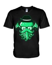 Hipster Cthulhu T Shirt V-Neck T-Shirt thumbnail