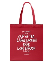 Tea and Books Quote T Shirt Tote Bag thumbnail