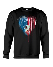 Great-Dane-Bleeding-Heart-American Crewneck Sweatshirt thumbnail