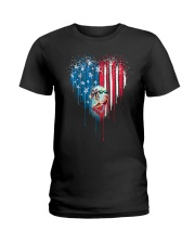 Great-Dane-Bleeding-Heart-American Ladies T-Shirt thumbnail