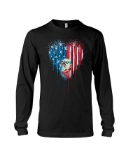 Great-Dane-Bleeding-Heart-American Long Sleeve Tee tile