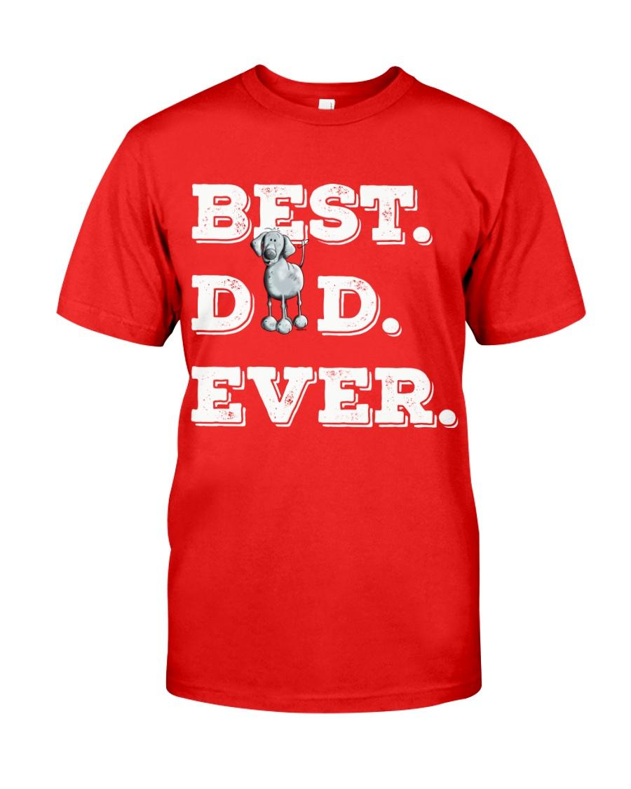 Best Dad Ever Weimaraner gift father days Classic T-Shirt