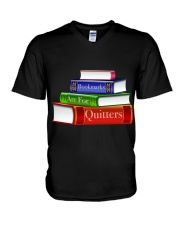 Bookmarks Are For Quitters T Shirt V-Neck T-Shirt thumbnail