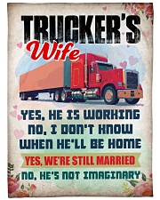 "Trucker's Wife Large Fleece Blanket - 60"" x 80"" front"