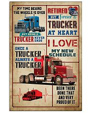 RETIRED TRUCKER PREMIUM 11x17 Poster front