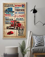 RETIRED TRUCKER PREMIUM 11x17 Poster lifestyle-poster-1