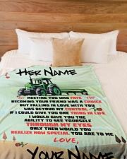 "Farmer's Girlfriend Large Fleece Blanket - 60"" x 80"" aos-coral-fleece-blanket-60x80-lifestyle-front-02"