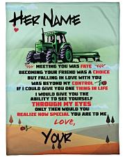 """Farmer's Girlfriend Large Fleece Blanket - 60"""" x 80"""" front"""