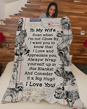 """Gift  For Yorkie Loving Wife Large Fleece Blanket - 60"""" x 80"""" aos-coral-fleece-blanket-60x80-lifestyle-front-04"""