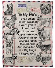 "Gift  For Yorkie Loving Wife Large Fleece Blanket - 60"" x 80"" front"