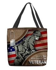 VETERAN'S GIRL All-over Tote front