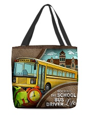 SCHOOL BUS DRIVER All-over Tote front
