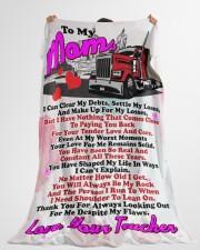 "Trucker's Mom  Premium Large Fleece Blanket - 60"" x 80"" aos-coral-fleece-blanket-60x80-lifestyle-front-10"